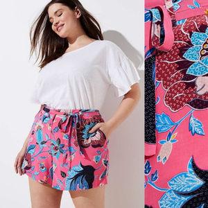 Loft Women Plus Size  shorts floral  Pink 24
